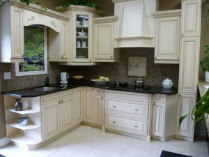 white cabinets in kitchen