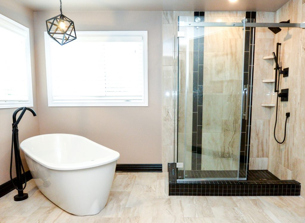 renovated bathroom design