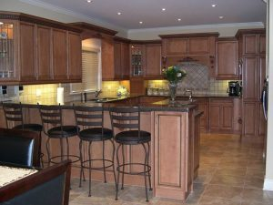 brown cabinets