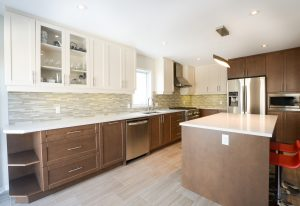 modern kitchen with backsplash