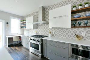 open shelf kitchen design